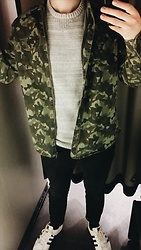 Anel Musanovic - New Yorker Military Jacket, Adidas Superstar, H&M Black Jeans, C&A White Sweater - The military style..