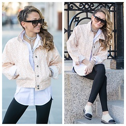 Lauren Recchia - Anthropologie Denim Jacket, Chanel Shoes, Chan Luu Necklace - Spring Ready
