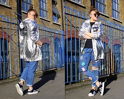 Agata Nika - Sinsay Silver Jacket, Levi's® 501ct Jeans, Adidas Trainers, Zara T Shirt, Primark Sunglasses - Never enough