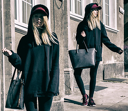 Magdalena Olczak - Pull & Bear Hoodie, Bershka Hat, Bershka Shoes, H&M Bag, River Island Leggins - VETO - Duck, Hush and be Still | leftchoice