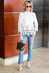 Kim Tuttle - Beast Fashion La Sasha, Silver Jeans Aiko, Make Me Chic Cut Out Top - Cut-out Detail