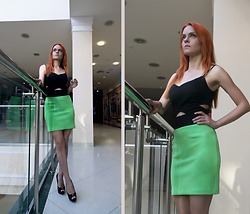 Irina Petrova - Love Republic Colorblock Dress, Centro Black Shoes - The Modern Day Leprechaun