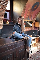 SIMPLY SOUL . - Cropp T Shirt, Stradivarius Jacket, Stradivarius Ripped Jeans, Deezee Silver Loafers - Reality Sucks