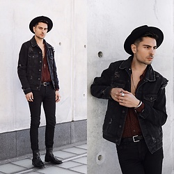 Phil Valles - Topman Denim Jacket, Goorin Brothers Hat, Topman Shirt, J. Crew Belt - Spring Staples
