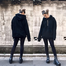 Chiemi Ito - Other Uk Hoodie, Unif Boots - Twin buns?