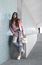 Bárbara Marques - Bershka Jacket, Bershka Jeans, Suiteblanco Mules, Michael Kors Bag - Who's with me?