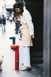 URBAN CREATIVI-TEA - Bally Coat, Dolce & Gabbana Belt, Redone Jeans, Isabel Marant Shoes - 24th Street NYC / urbancreativi-tea
