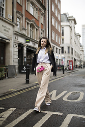Karolina Gespucci - Toteme Shirt, Furla Bag, Self Portait Pants - Soho, London