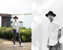 Patrick Pankalla - Cos Short Sleeved Shirt, Matinique Suit Trousers, Kenzo Sneakers, H&M Fedora Hat - Things Are Changing