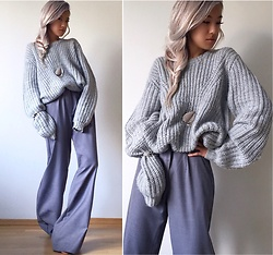 Da Li - H&M Sweater, Celine Necklace - Handmade Pants
