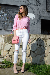 Elisabeth Green - H&M Blouse, Suiteblanco White Jeans, Zara Heels - Bardot and Vichy