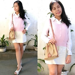 Honey Frauline - Old Navy Pastel Yellow Skirt, Pastel Pink Vest - Pastel is for Spring!
