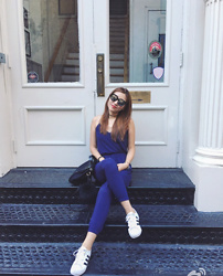 Catherinee Waa - Tobi Tie Back Jumpsuit, Gentle Monster Cuba 502 Sunglasses, Urban Outfitters Choker - Summer in SOHO
