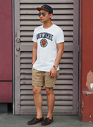 DADA FAB - H&M W Cap, Sunnies Philippines Sunglass, Abercrombie & Fitch White Shirt, Topman Khaki Shorts, Sperry Topsider - Abercrombie