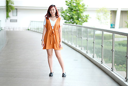 Jean Yu - H&M Shoes, Dressfo Playsuit - My Kind of Orange