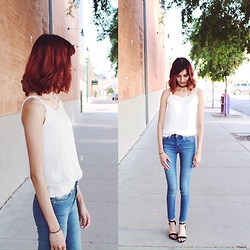 Neddy Ley - Divided Skinny Jeans, Q Heels - Casual spring days