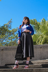Gemini Tauberge - Miu Sunglasses, Everlane Bag, Prada Heels, Forever 21 Sheer Socks - Tropicale
