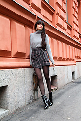 Paz Halabi Rodriguez - Mango Turtle Neck, Pixie Market Wrap Skirt, Mango Patent Leather Boots - Wrap it!