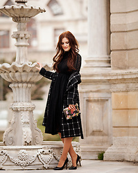 Viktoriya Sener - Chicwish Coat, Chicwish Dress - BLACK LACE