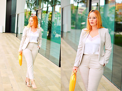 Nery Hdez - Chloé Eyeglasses, Zara Suit, Bombatabags Bag - Soft Suit