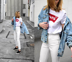 Katarina Vidd - Vans Sneakers, All Items On My Blog - Double white.