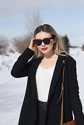 Alexa Jade Warren - Celine Sunglasses, American Apparel Fuzzy Sweater, Aritzia Coat - Ruby Woo 2