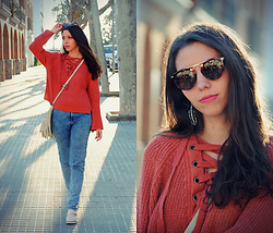 Ana Mª Aranda - Dresslily Sweater, Gamiss Earrings, Dresslily Sunglasses, Pull & Bear Jerans - Spanish Spring