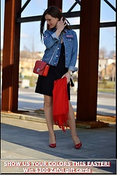 Fashionelja Ja -  - JEANS WITH RED ACCENTS