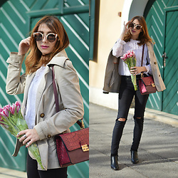 Monika Tremski - S.Oliver Trench Coat, H&M Jeans, Zaful Sunglasses - Spring is here!