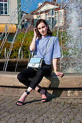 Anna Puzova - Zaful Blouse, Zaful Bag - Perfect Blue Touch for Easter by Zaful