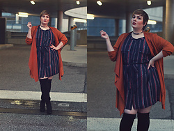 Luciana Blümlein - C&A Dress, C&A Cardigan, C&A Boots, Dior Earrings, Jennifer Fisher Choker - • Rain •