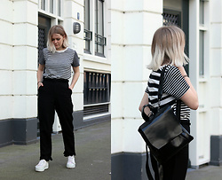 Manon Dijkhuizen - Cos T Shirt, H&M Pantalon, Vintage Shoes, Gamiss Bag - A little bit of frill