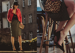 Marina Marse - Tkmarket Clatch, Kazar Heels, Reserved Skirt, Reserved Red Jacket, Bershka Body, H&M Baseball Cap - Party time
