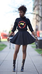Sharnelle Clue - Kenzo Sweater, H&M Flare Skirt - When H&M meets Kenzo