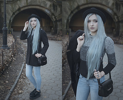 Anya Anti - Romwe Sweater, Bag, Asos Coat, T.U.K. Footwear Creepers, H&M Hat - Prospect park