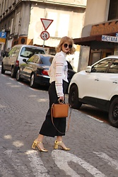 Ana Vukosavljevic - Mango Bag, Yoins Top, Yoins Pants, Kurt Geiger Shoes, Asos Sunglasses - Crochet Top