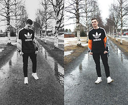 Andreas Sundbom - Adidas Sweater, Weekday Bomber Jacket, Samsoe&Samsoe Chinos, Nike Sneakers - SWE + spring = false