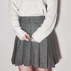 BLUEBLUE US - Vintage 풀오버 Sweater, Vintage Tennis Skirt - Casual daily look