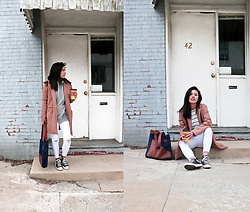 Sheila - Calila Tote Bag, Camel Coat, Asos White Jeans - Perfect Tote Bag