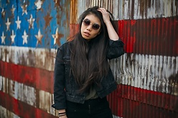 Josephine Ellen - Wearme Pro Sunglasses, Urban Outfitters Jacket, Nordstrom Shirt - Window to the World