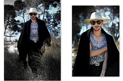 Zied Ben Houria - Zara Hat, Ray Ban Glasses, Zara Cape, Gucci Belt - Safari