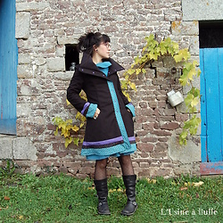 L'Usine à Bulle - L'usine à Bulle Coat, L'usine à Bulle Dress, Kickers Boots - It's always cold here