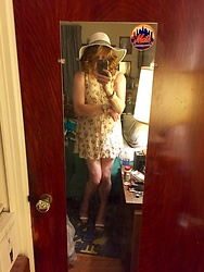 Jennifer S - For Love & Lemons Mini Floral Dress, Zara Peep Toe Heels, H&M Hat - Brunch Date