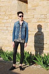Julien GIRARD - H&M Jeans Jacket, Zara Pajama Shirt, Pull & Bear Black Jeans, New Look Black Derbies, Marc By Jacobs Black Sunglasses - Shadows of Glory