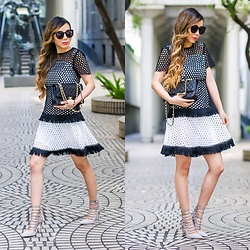 Sasa Zoe - On Sale For Less Than $60 Dress, Heels, Sunglasses, Bag - EYELET, CROCHET AND FRINGE