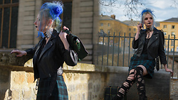 Darkrevette - Tripp Nyc Perfecto, Regalrose Regina Corset Choker, Jennyfer Tartan Skirt, Banned Retro Bag - Pretty in Punk