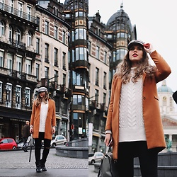 Diana Ior - H&M Sweater, Shein Coat, H&M Boots, Asos Baker Boy Cap - Get Right