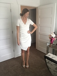Cindy Batchelor - Ouges White Asymmetrical Dress - White Asymmetrical Dress