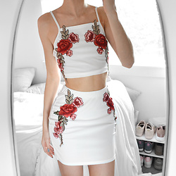 Tia Mcintosh - Zaful Embroidered Two Piece - Embroidered zaful look