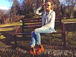 Olivia Fabińska - H&M Shoes, Zara Jeans, Primark Sunglasses - Waistcoat of leather